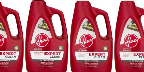4 Hoover Carpet Cleaner 1-Gallon Bottles Only $12.96 Shipped | Just $3.24 Each