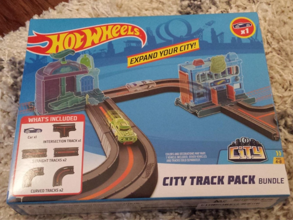 box of kids track toy