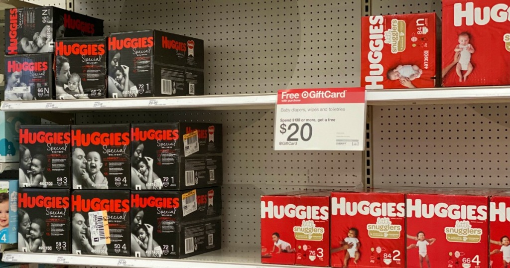 Huggies Diapers with Target Sign