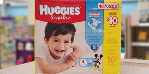 Huggies Diaper Boxes as Low as $6 at Walgreens (Regularly $26)