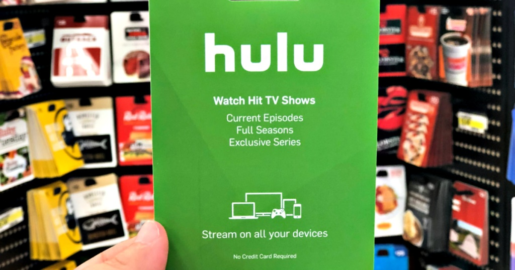 Hulu Gift Card in person's hand