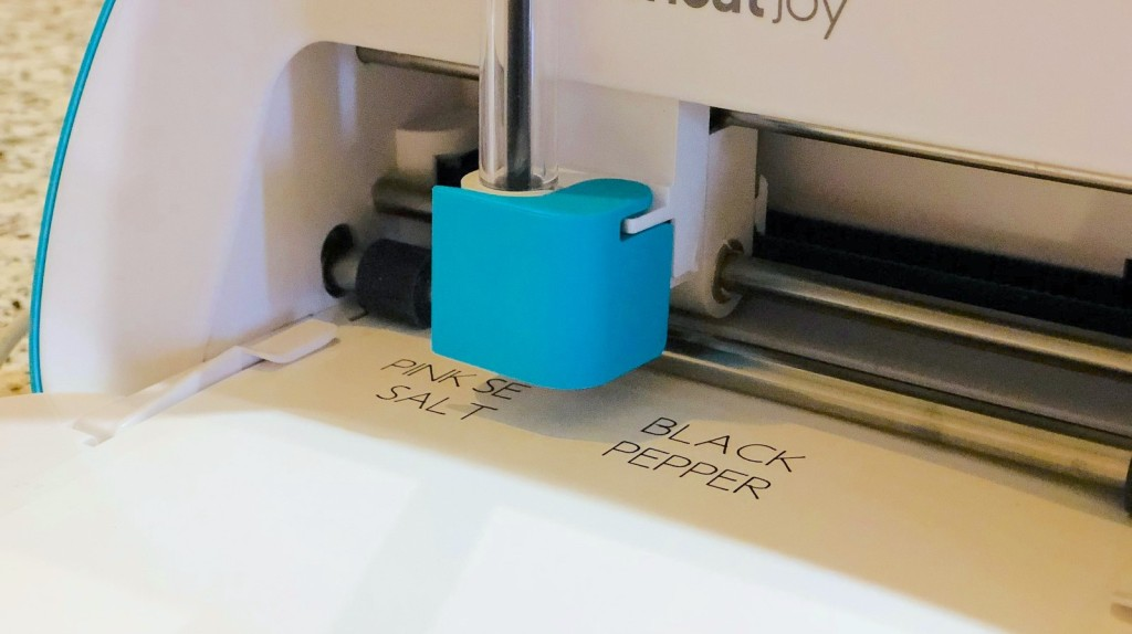 close up of printer printing words