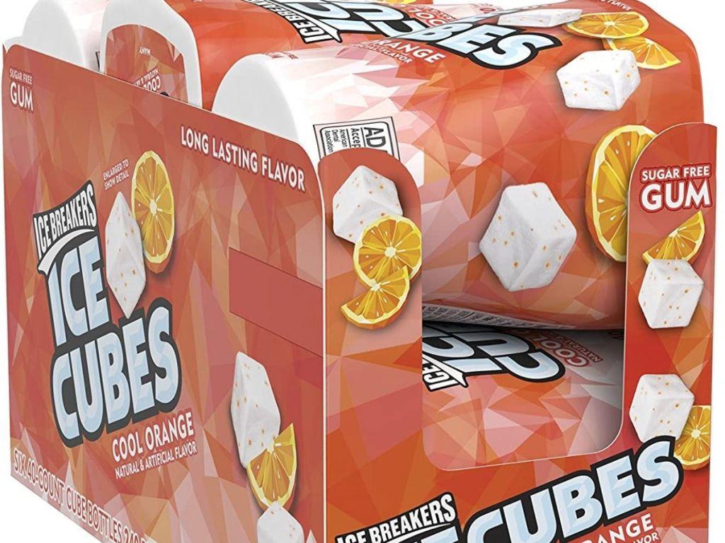 box of Ice Cubes gum jars