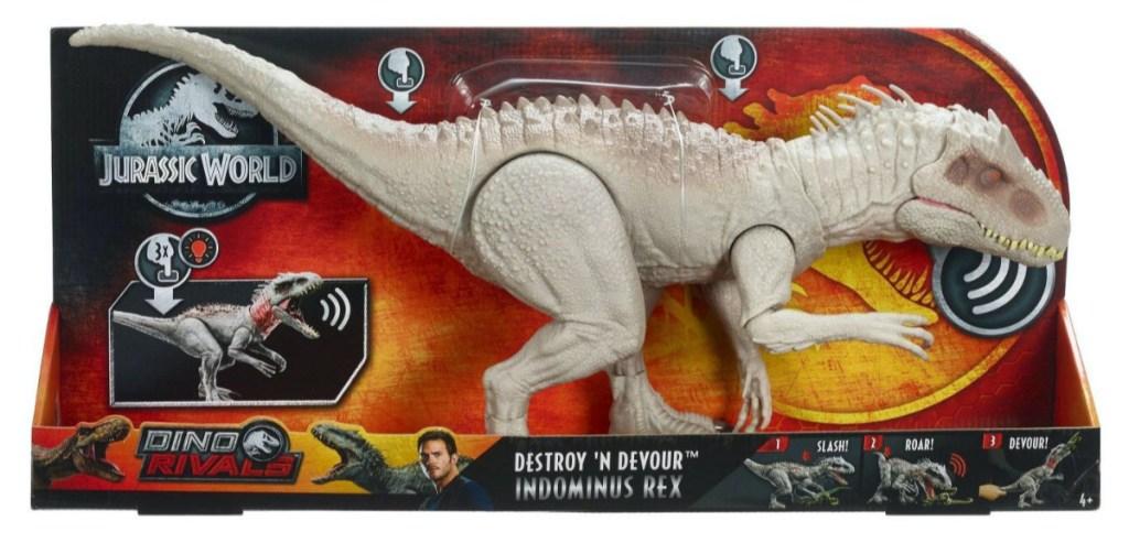 toy dinosaur in box