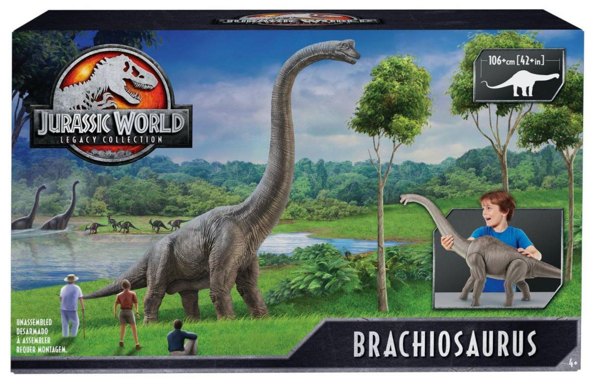 large toy dinosaur in box