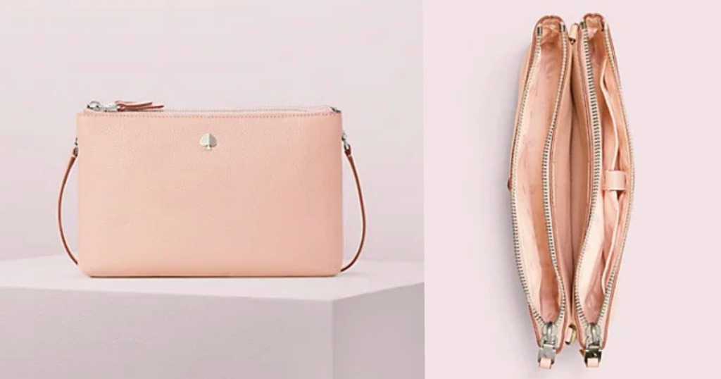 Kate Spade Pink bag opened and closed