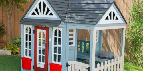 $200 Off KidKraft Timber Trail Wood Outdoor Playhouse on Zulily