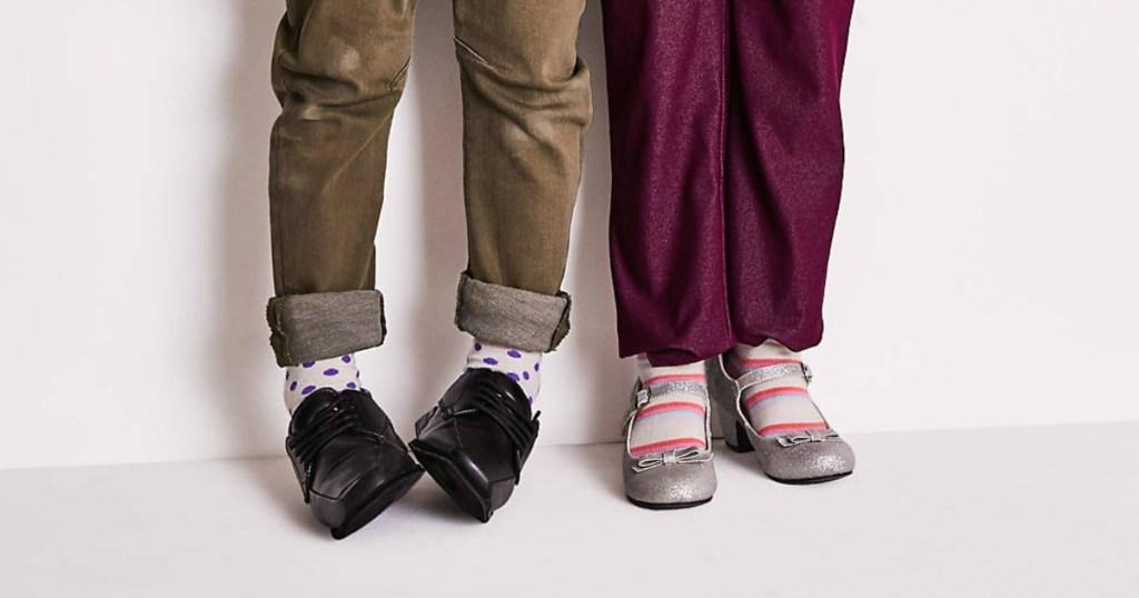 kids wearing dress shoes