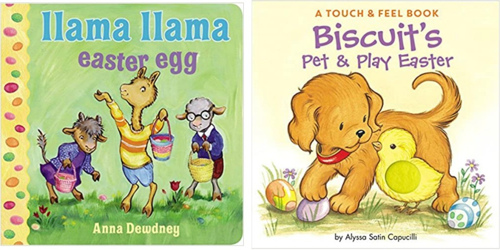 Two kids Easter themed board books