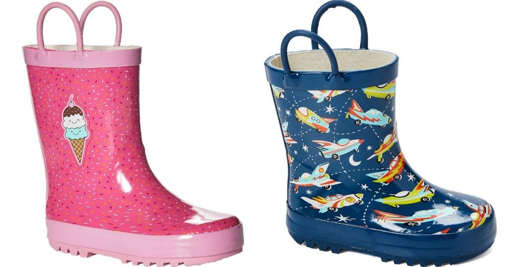 two kids rain boots