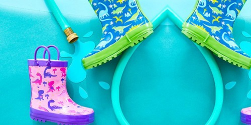 Toddler & Kids Rain Boots Only $9.99 on Zulily (Regularly up to $45)
