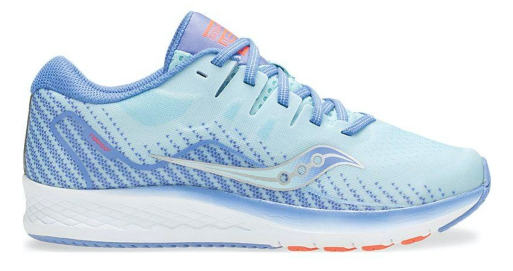kids light blue running shoe