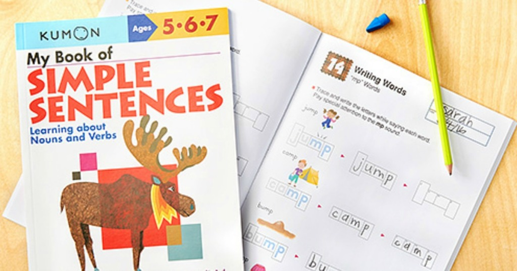Kumon Simple Sentences workbook for kids