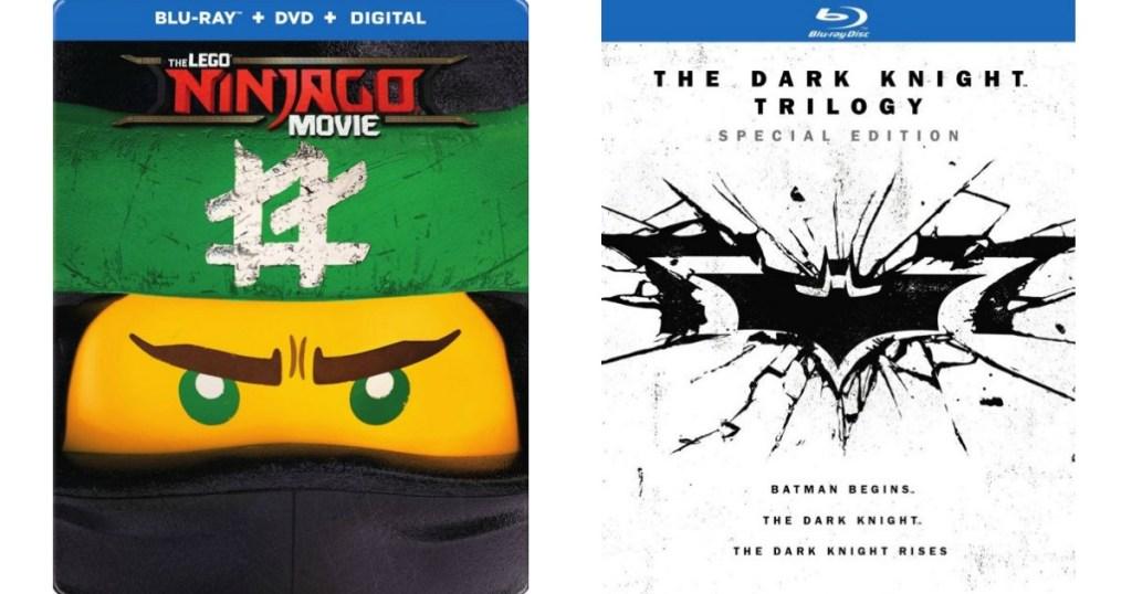 LEGO Ninjago Movie and Dark Knight covers