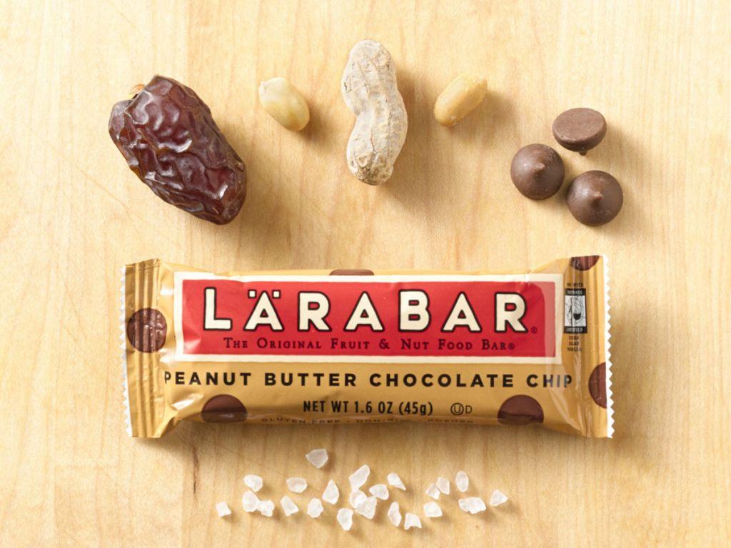 Larabar Peanut Butter Chocolate ChipBar ingredients inside