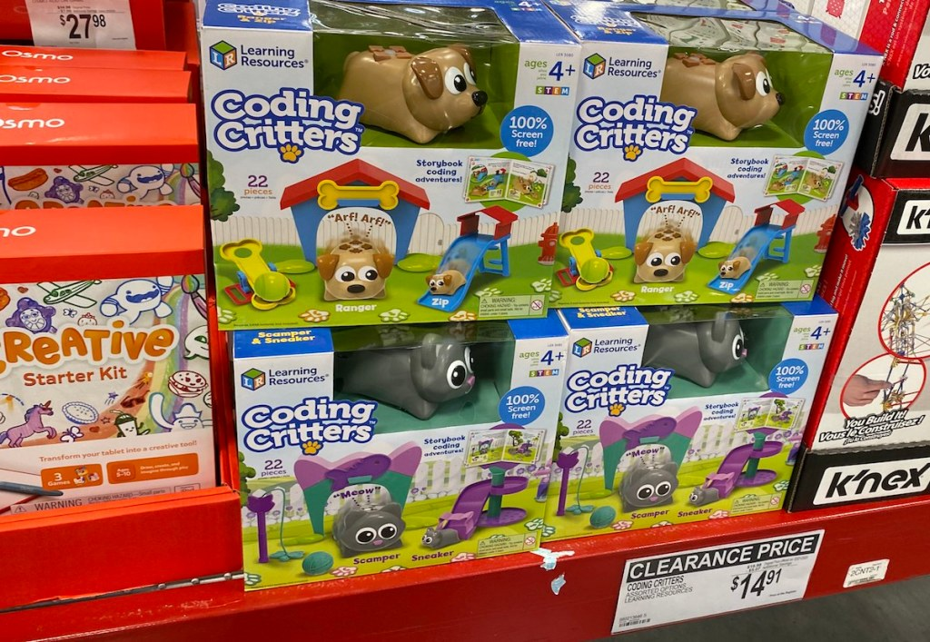 Learning Resources Coding Critters on table at Sam's Club