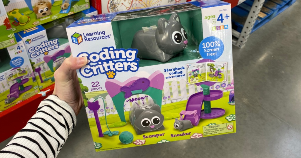 Hand holding Learning Resources Coding Critters