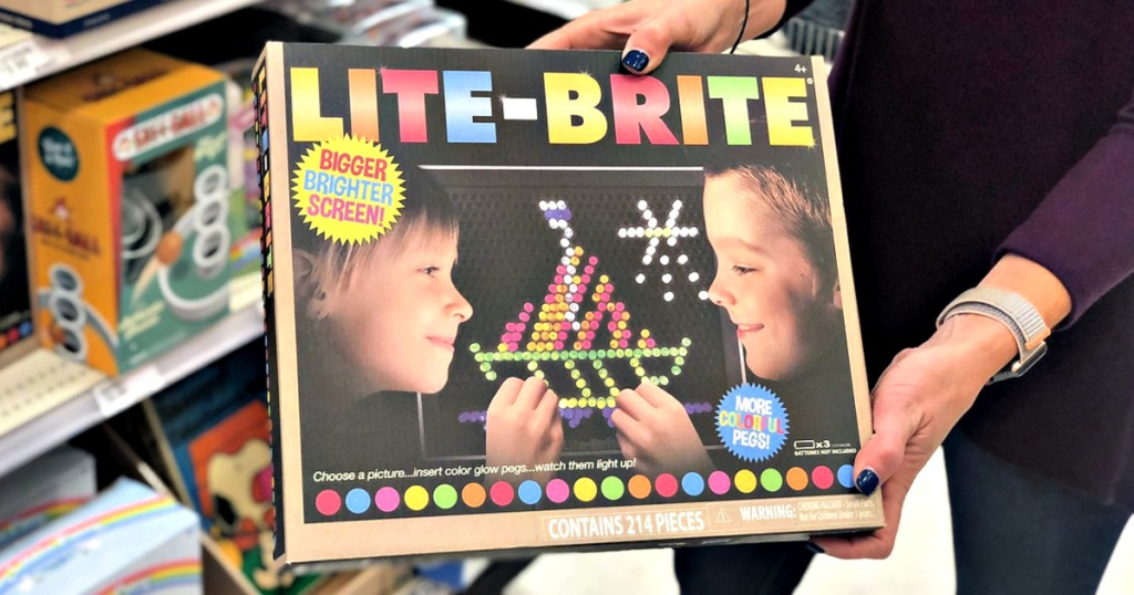 Lite Brite in woman's hands