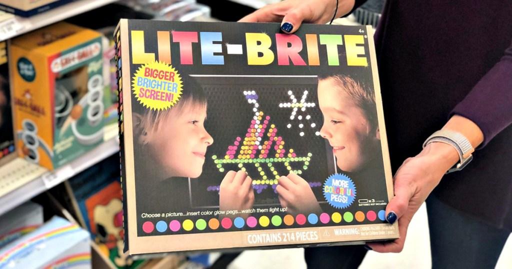 Lite Brite in woman's hands
