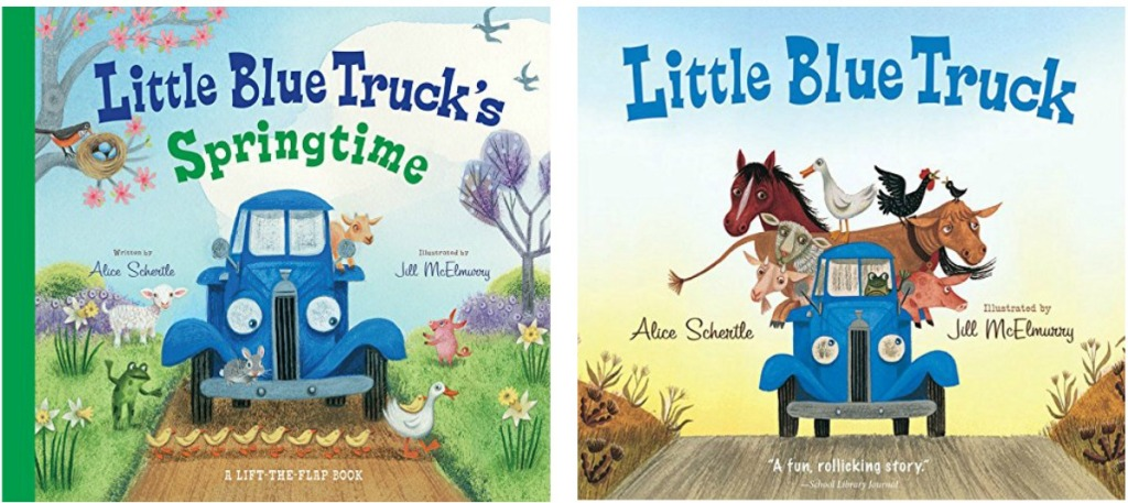 Two truck themed books for kids