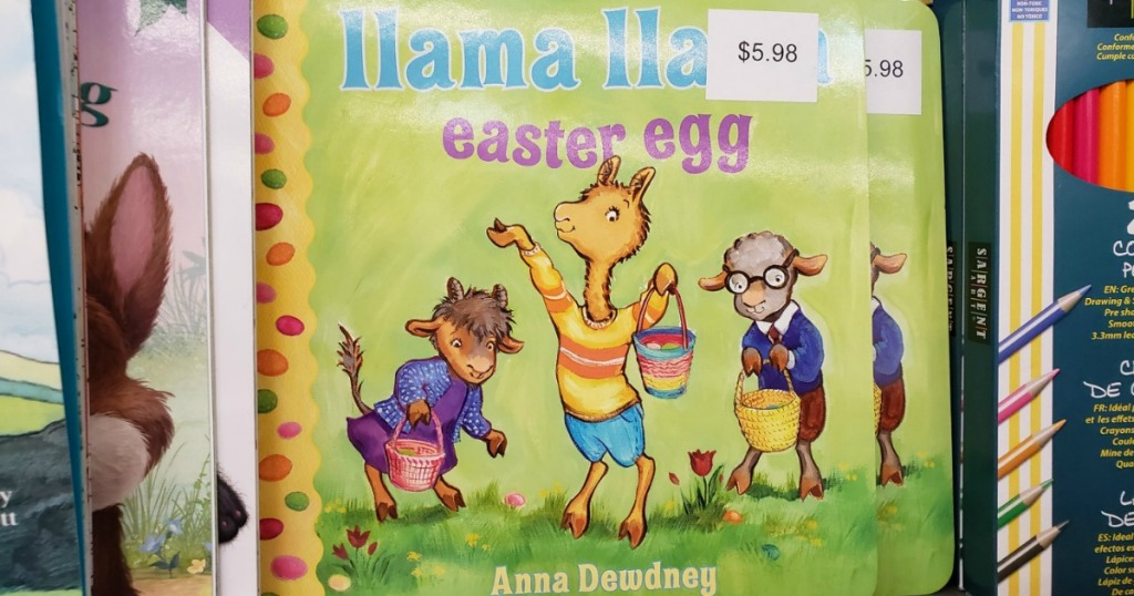 Kids Easter themed board book with price tag on cover