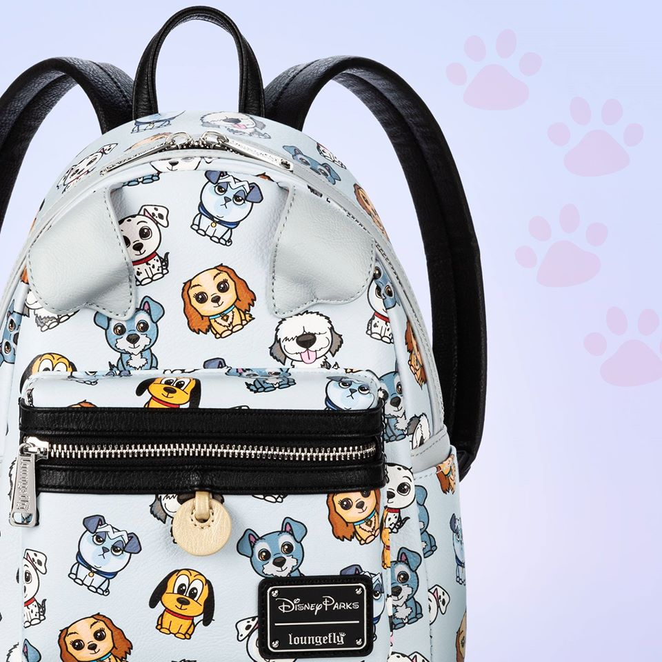 Loungefly Mini Backpack with dogs on it
