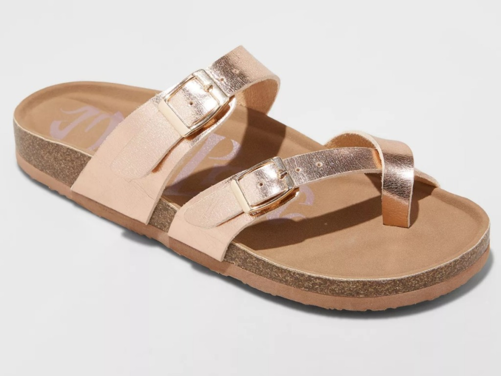 Mad Love Rose Gold Sandals
