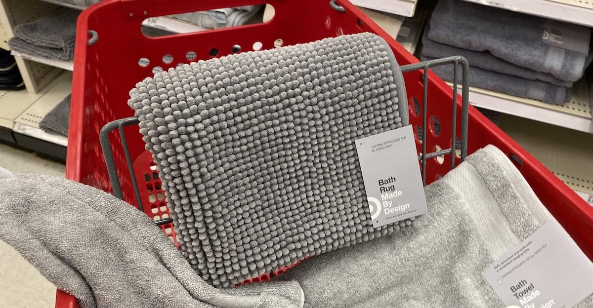 bath rug on Target cart