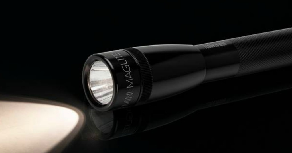 Maglite Flashlight with light on