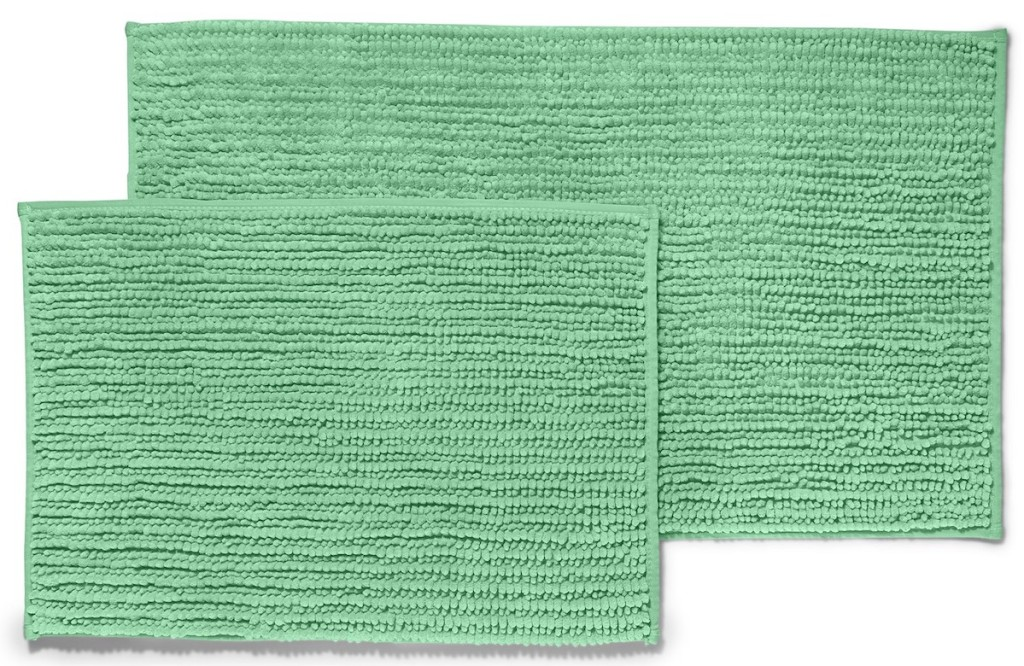 two green rugs