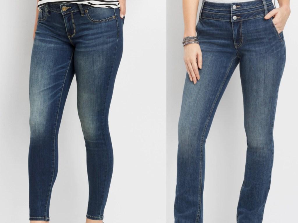 two women in jeans