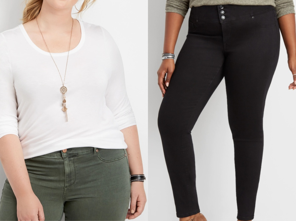 woman in white top and woman in black jeans