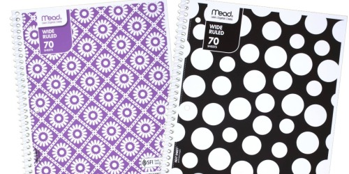 Mead One Subject Notebooks Just 79¢ on Amazon