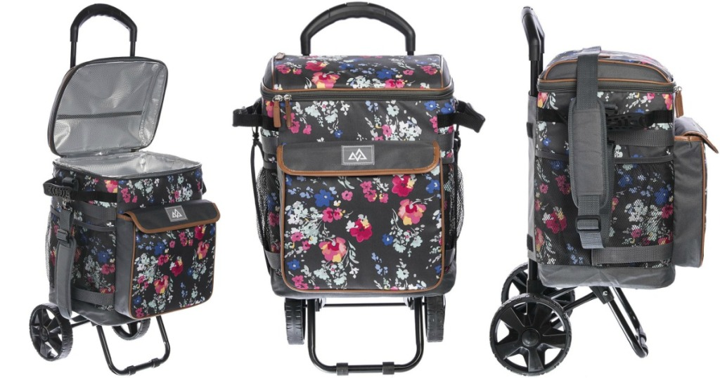 floral rolling tote