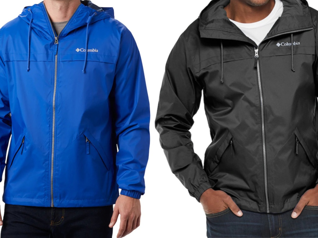 man in blue jacket and man in black jacket