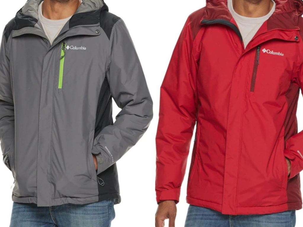 man in gray jacket and man in red jacket