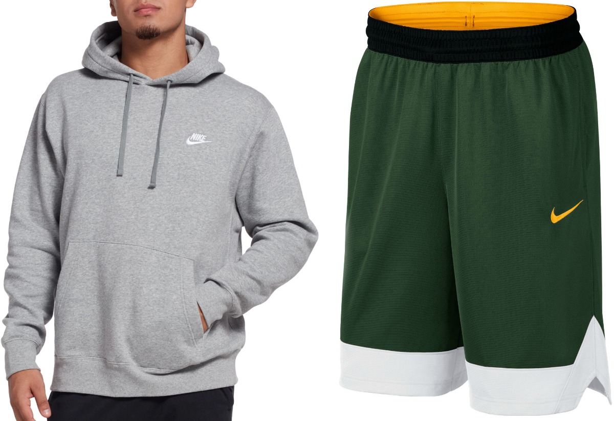 Man wearing gray Nike sweatshirt