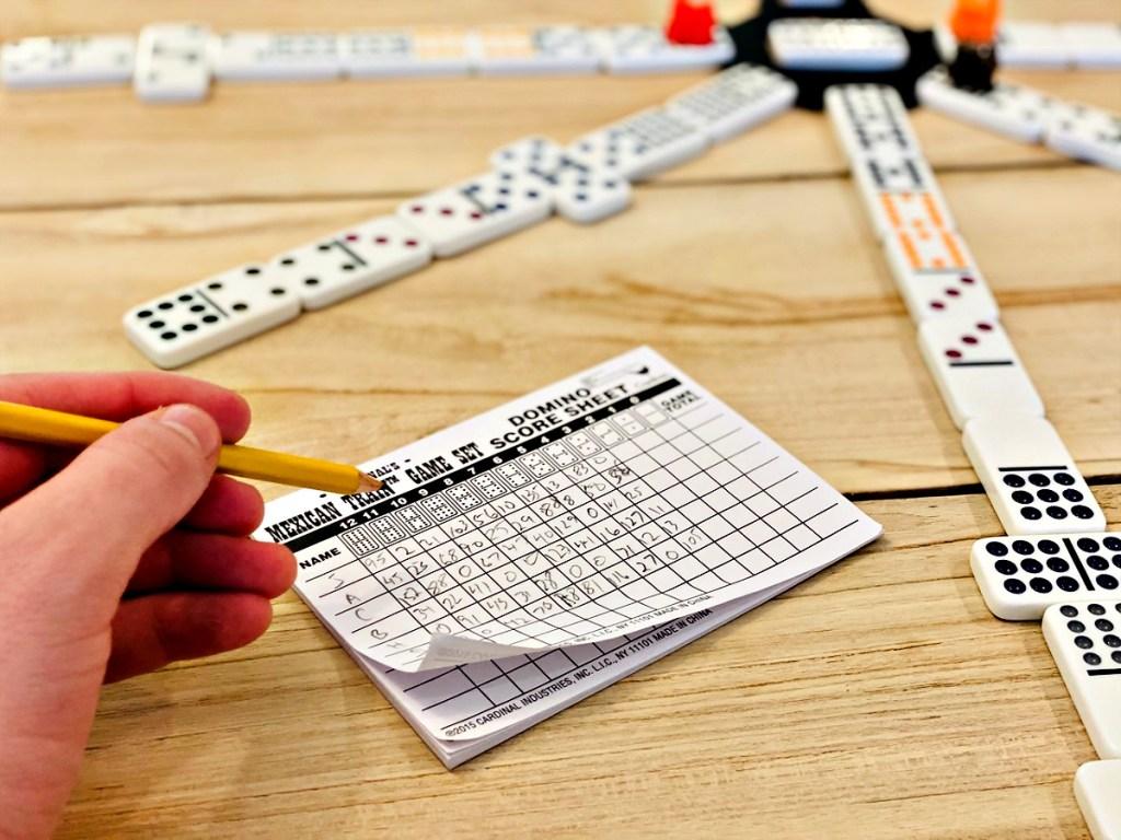 Mexican Train Domino Game score pad