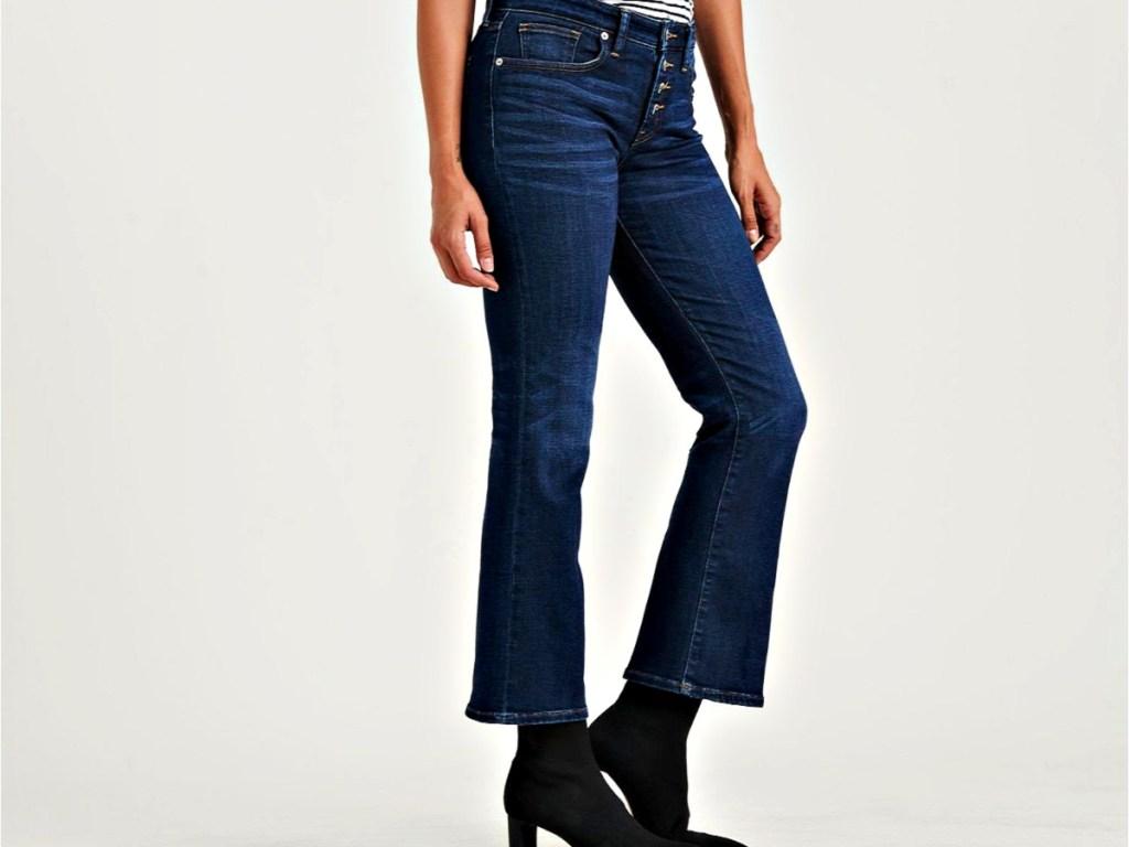 Mid Rise Ava Crop Mini Boot Jean