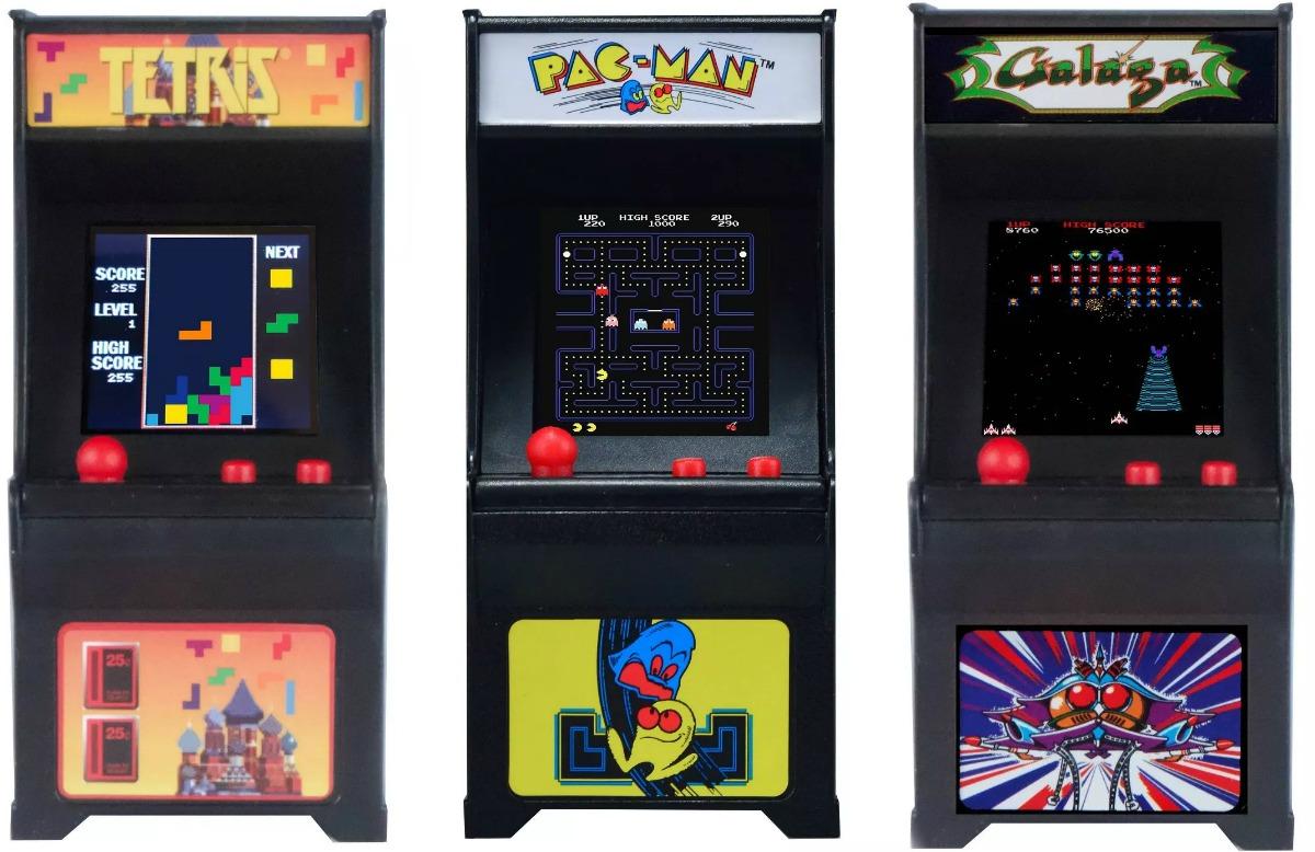 Three mini arcade toys