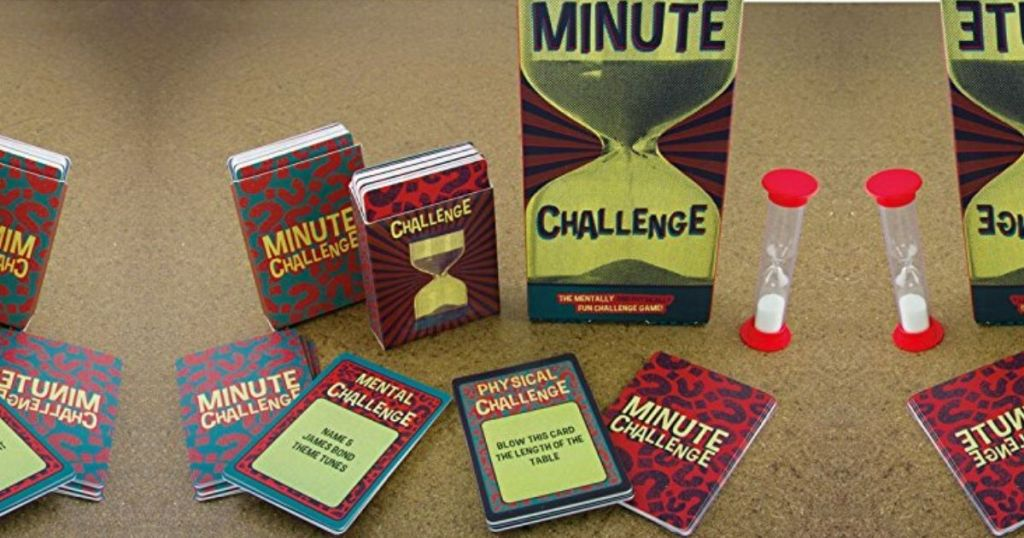 Minute challenge board game cards and timer