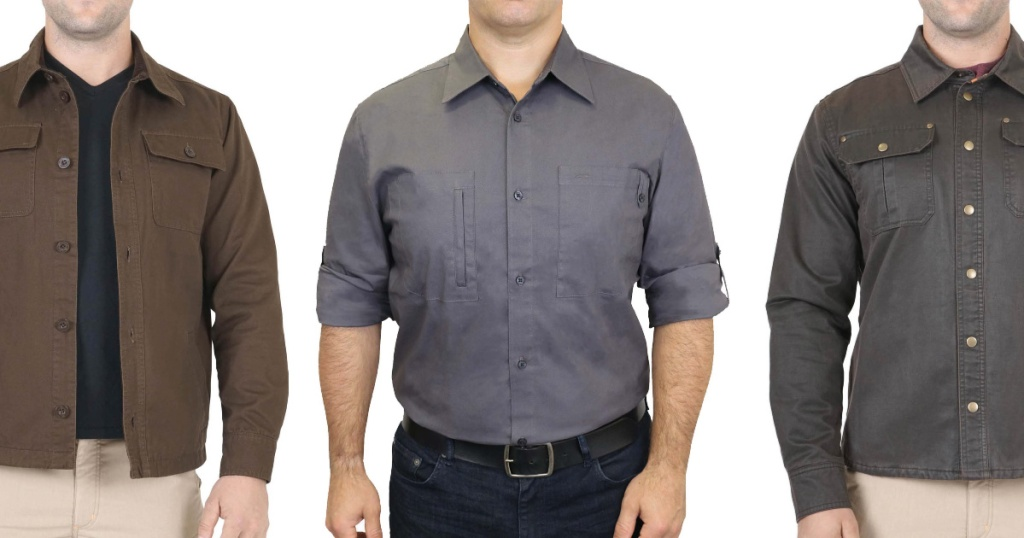 Men wearing Mountain Isles Work Shirts