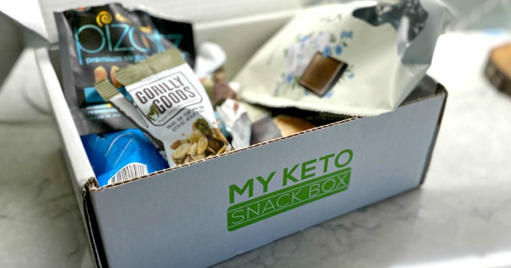 keto snacks in keto snack box