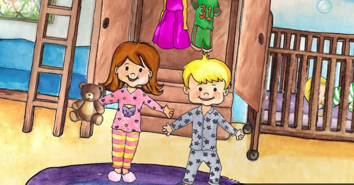 screen shot of the My PlayHome kids app showing two kids