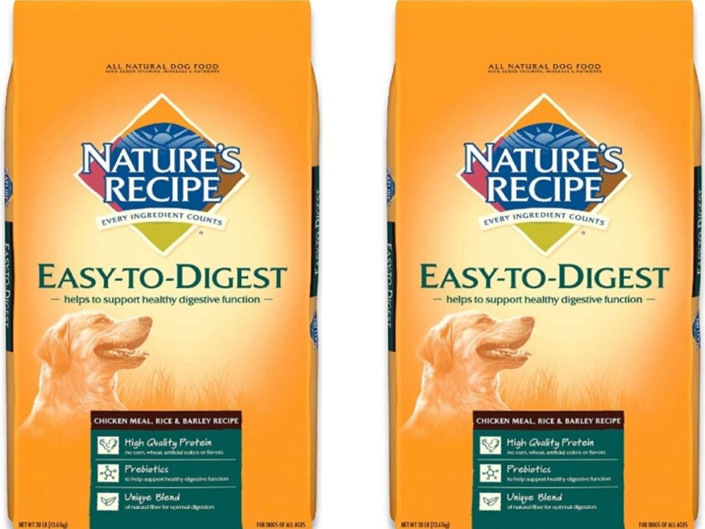Two 30 lb bags of dry dog food