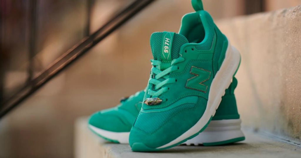 New Balance women's teal sneakers