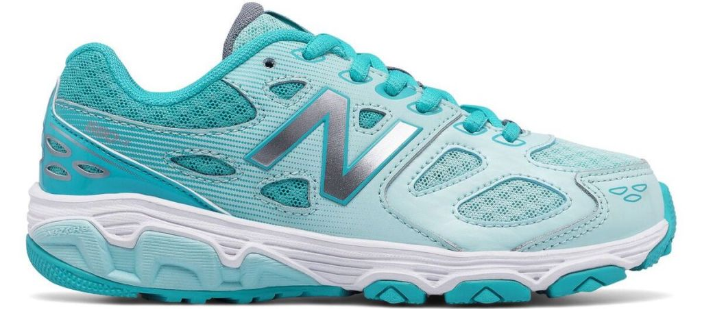 aqua and white sneaker