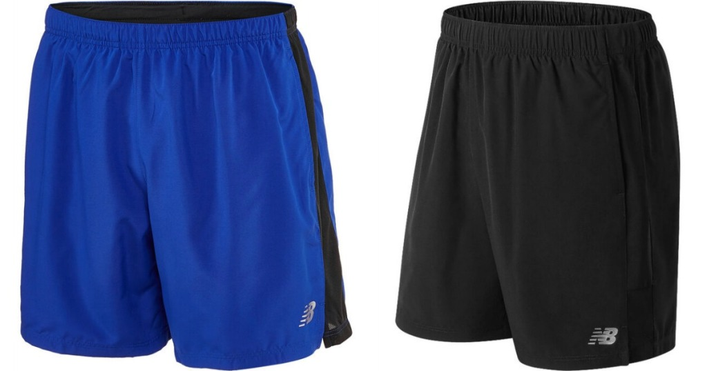 two pairs of New Balance shorts