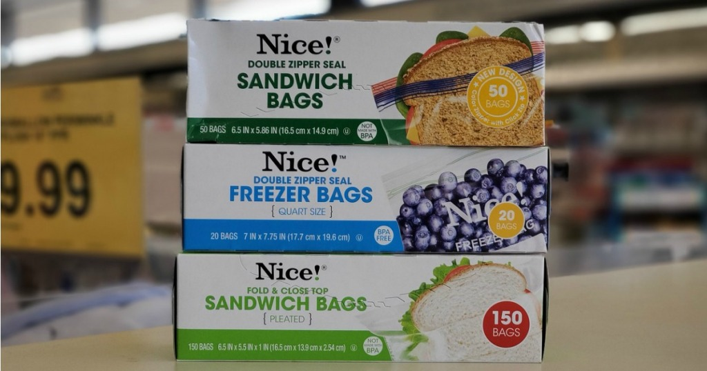 Nice! Storage bags on Walgreens store counter