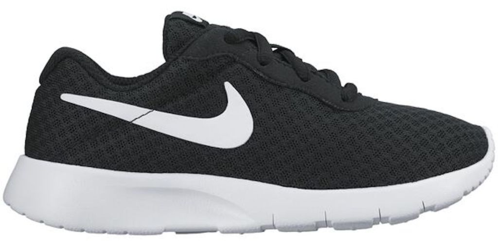 black and white Nike Kids' Tanjun Pre-School Running Shoes